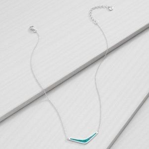 Silpada Reverse Boomerang Silver Arrow Necklace